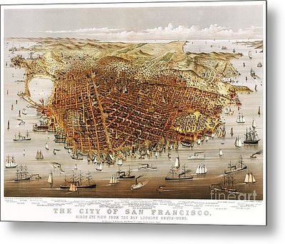The City Of San Francisco Metal Print by Pg Reproductions
