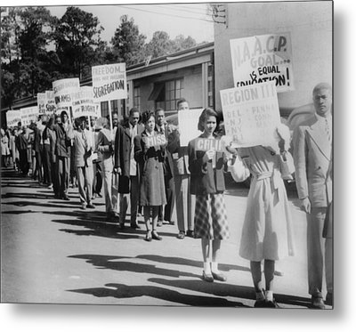 The Civil Rights Movement Began Metal Print