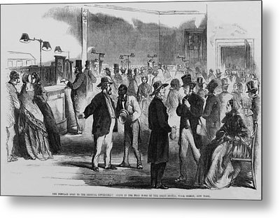 The Civil War. New Yorkers In The Assay Metal Print by Everett