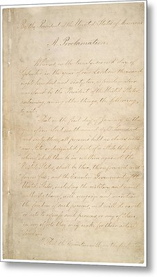 The Civil War. The Manuscript Metal Print