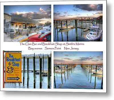 The Clam Bar And Breakfast Shop Metal Print by John Loreaux