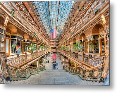 The Cleveland Arcade IIi Metal Print by Clarence Holmes
