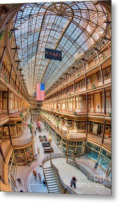 The Cleveland Arcade Iv Metal Print by Clarence Holmes