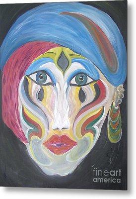The Clown Within Me Metal Print by Rachel Carmichael