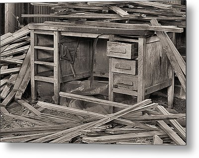 The Cluttered Desk Metal Print