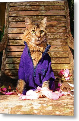 Metal Print featuring the photograph The Color Purple by Joann Biondi