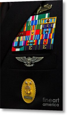 The Command Master Chief Badge Metal Print by Stocktrek Images