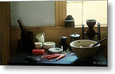 The Cook's Table Metal Print by RC deWinter