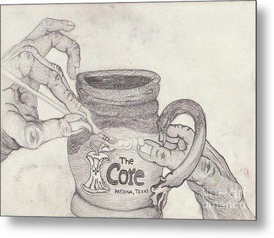 The Core Mug Metal Print by TK Mayfield