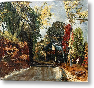 The Covered Bridge Metal Print by Elena Irving