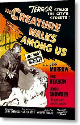 The Creature Walks Among Us, 1956 Metal Print