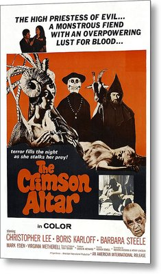 The Crimson Cult, U.s Title Aka The Metal Print by Everett