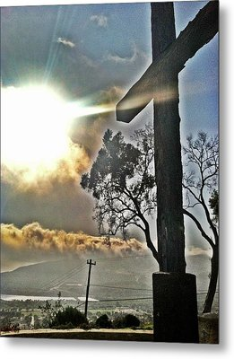 The Cross Metal Print by Raven Janush