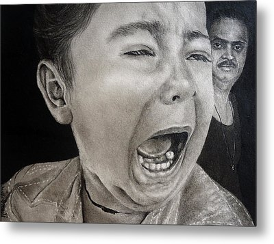 The Crying Child Metal Print