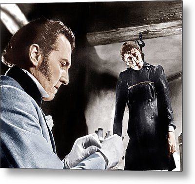 The Curse Of Frankenstein, From Left Metal Print by Everett