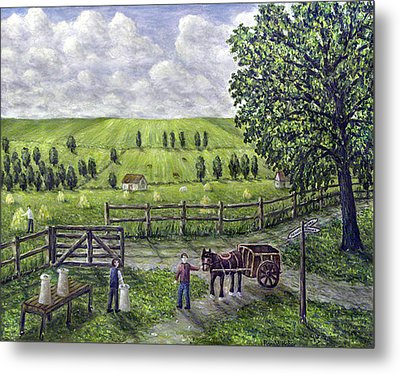 The Dairy Farm Metal Print by Ronald Haber