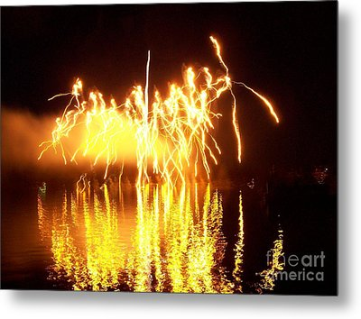 The Dance Of Fire And Water Metal Print by Sasha Marlay
