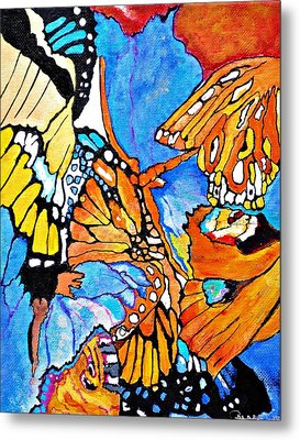 The Dance Of The Butterflies Metal Print
