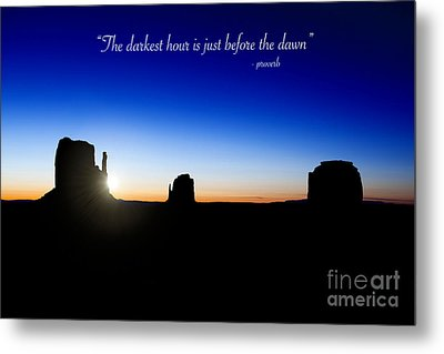 The Darkest Hour..... Metal Print by Jane Rix