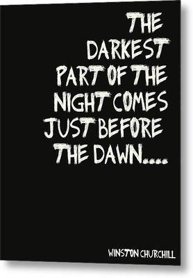 The Darkest Part Of The Night Metal Print by Georgia Fowler