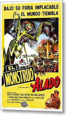 The Deadly Mantis, Aka El Monstruo Metal Print by Everett