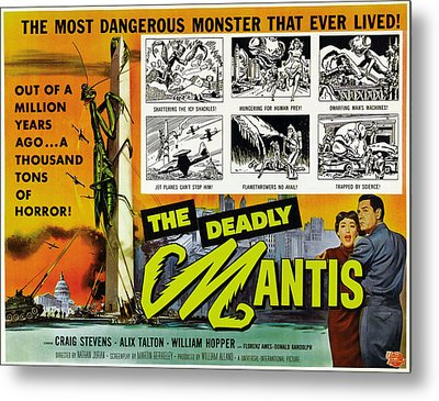 The Deadly Mantis, Bottom Right Metal Print by Everett