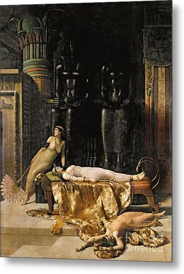 The Death Of Cleopatra  Metal Print by John Collier