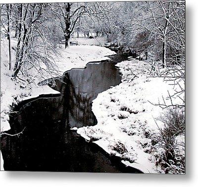 The Deep And Snowy Creek Metal Print by Kimberleigh Ladd