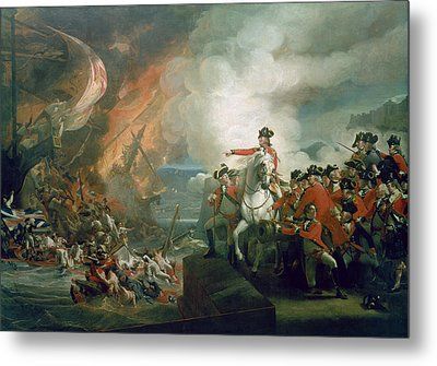 The Defeat Of The Floating Batteries At Gibraltar Metal Print by John Singleton Copley