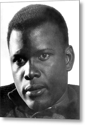The Defiant Ones, Sidney Poitier, 1958 Metal Print by Everett