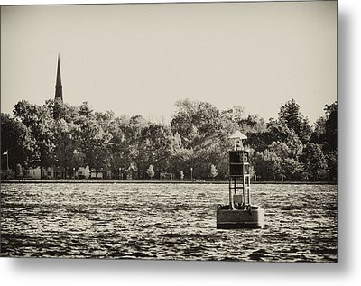 The Delaware River At Bristol Metal Print by Bill Cannon