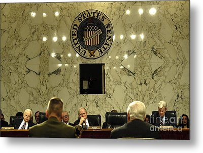 The Department Of Defense Address Metal Print by Stocktrek Images