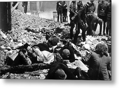 The Destruction Of The Warsaw Ghetto Metal Print by Everett