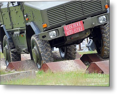 The Dingo 2 Mppv Of The Belgian Army Metal Print by Luc De Jaeger