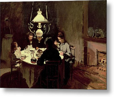 The Dinner Metal Print by Claude Monet