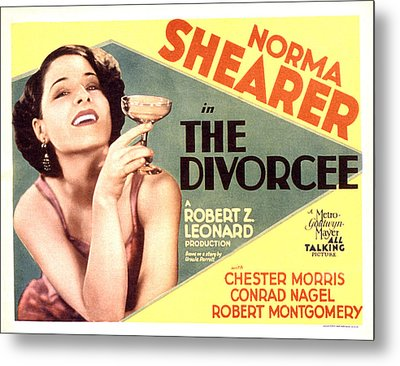 The Divorcee, Norma Shearer, 1930 Metal Print
