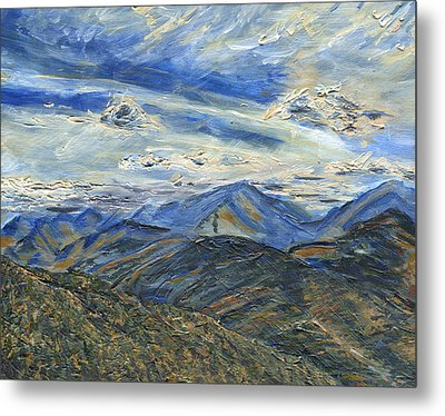 The Dix Range From Giant Peak Metal Print