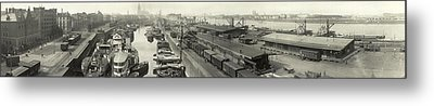 The Docks At Cologne - Germany - C. 1921 Metal Print by International  Images