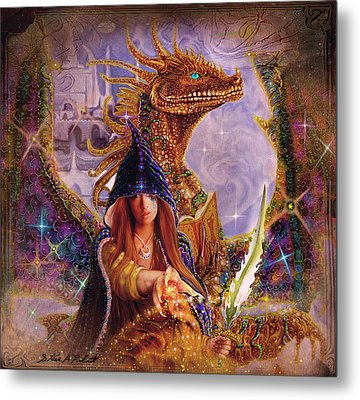 Metal Print featuring the painting The Dragon Master by Steve Roberts