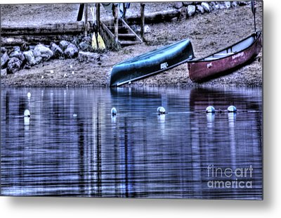 Metal Print featuring the photograph The Dramatic Canoe Scene by Janie Johnson