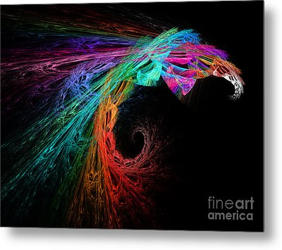 The Eagle Rainbow Metal Print by Andee Design