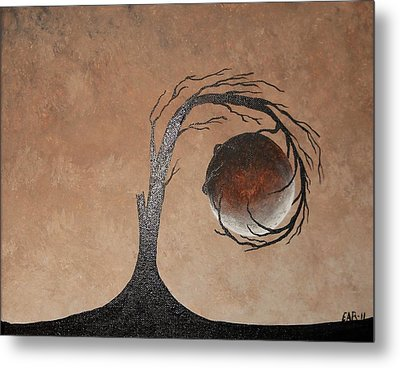 Metal Print featuring the painting The Earth Element by Edwin Alverio