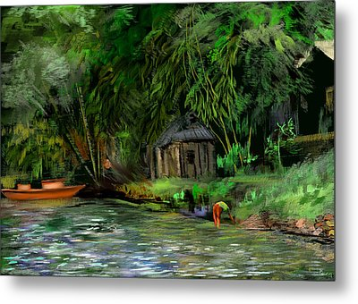 The Eco Village Metal Print