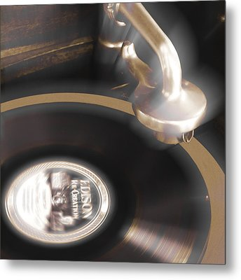 The Edison Record Player Metal Print by Mike McGlothlen