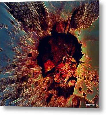 The Effects Of Our  Mutants Thoughts Metal Print by Paulo Zerbato