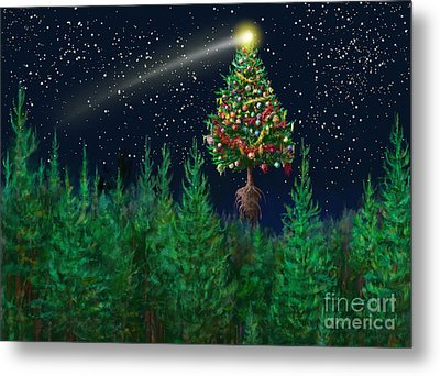 The Egregious Christmas Tree Classic Landscape Metal Print by Russell Kightley