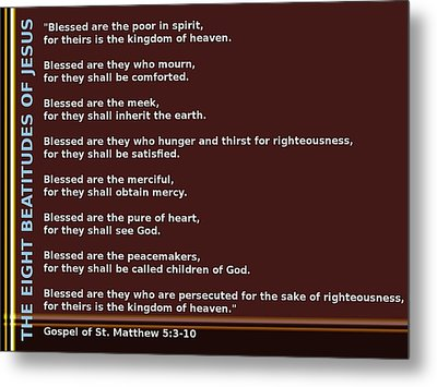 The Eight Beatitudes Of Jesus Metal Print by Ricky Jarnagin