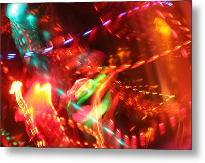 The Electric Cosmos      Nebula Traffic Jam Metal Print by Artist Orange