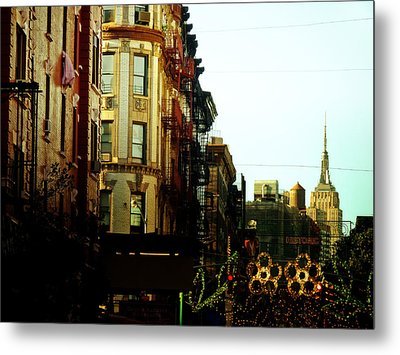 The Empire State Building And Little Italy - New York City Metal Print by Vivienne Gucwa