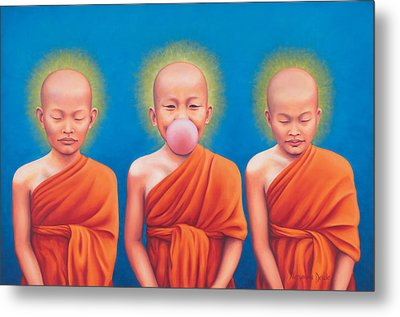 The Enlightened One Metal Print by Alessandra  Desole
